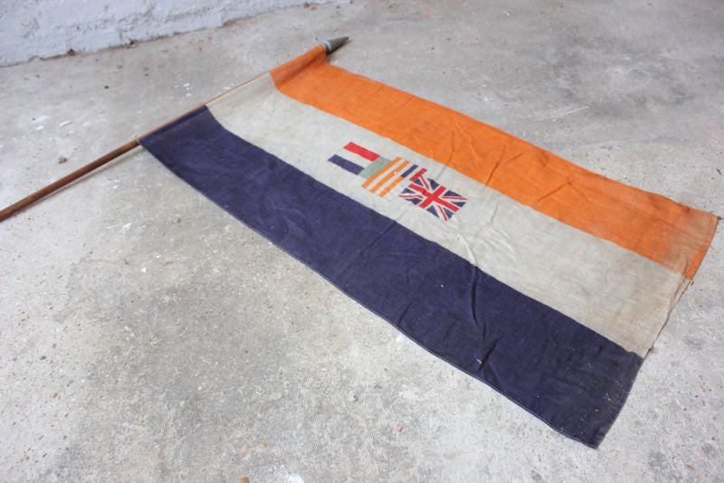 A Good British Empire Union of South Africa Flag Mounted on a Pole