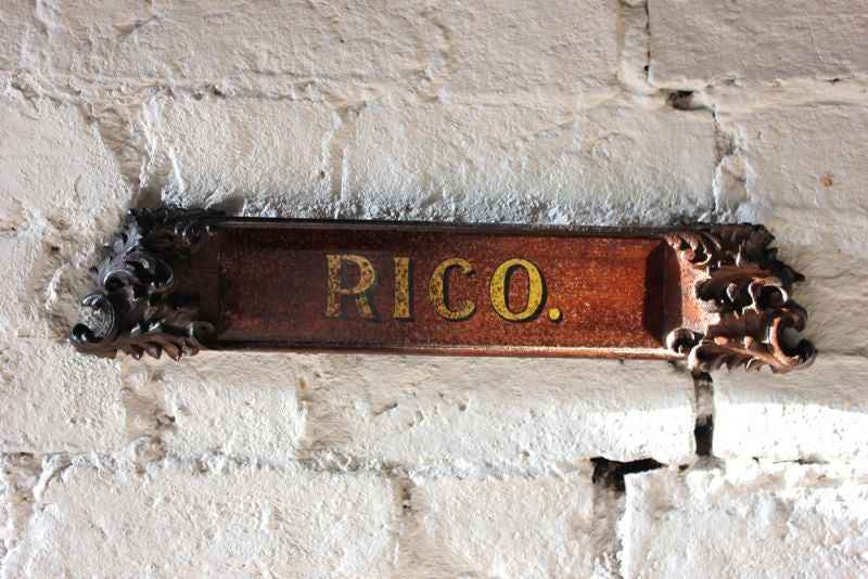 A Fine Georgian Period Carved Stable Horse Name Plate; 'Rico'