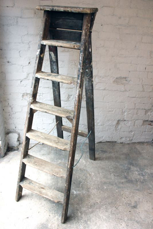 A Good Early 20thC Pine Step Ladder