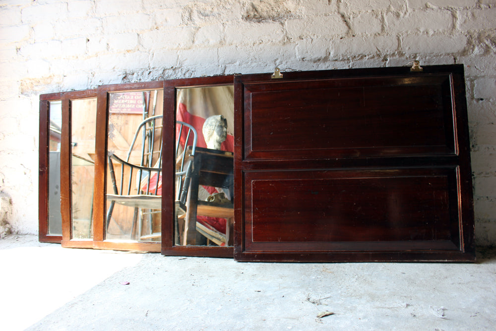 A Matched Group of Five 19thC Panelled Mahogany Rectangular Mirrors