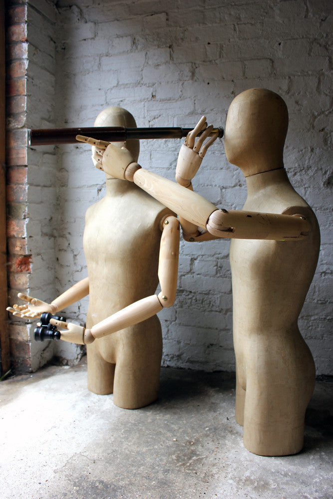 A Marvellous Pair of Mid 20thC Shop Display Articulated Mannequins by Stockman Paris
