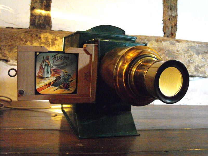 A Fully Operational Vintage Butcher's Boys Own' Magic Lantern, Complete With 7 Boxes of Lantern Slides