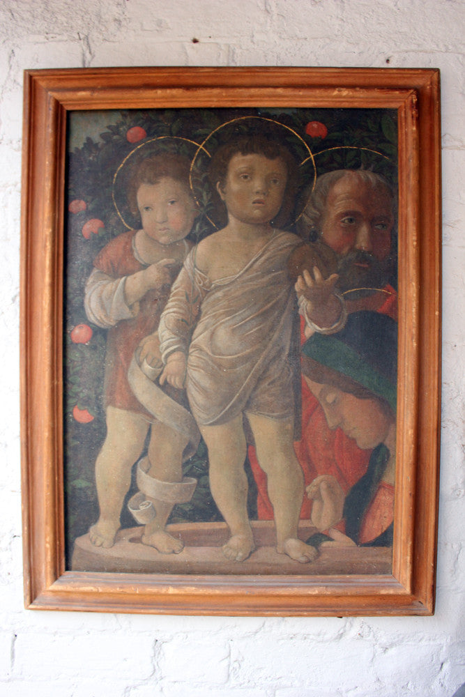 Viola Borradaile; A Sublime Early 20thC Tempera on Canvas Renaissance Style Study of Religious Figures