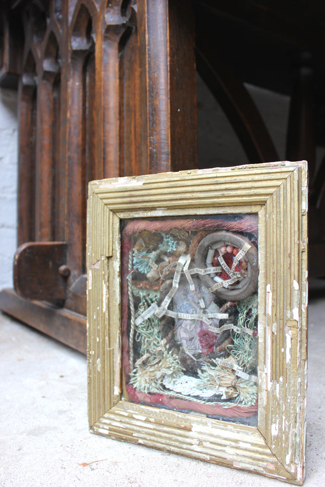 A Wonderful Mid 19thC Shadow Box Framed Reliquary