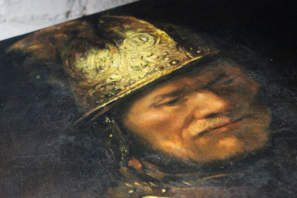 After Circle of Rembrandt; A Good 19thC Oil On Canvas; 'The Man with the Golden Helmet'