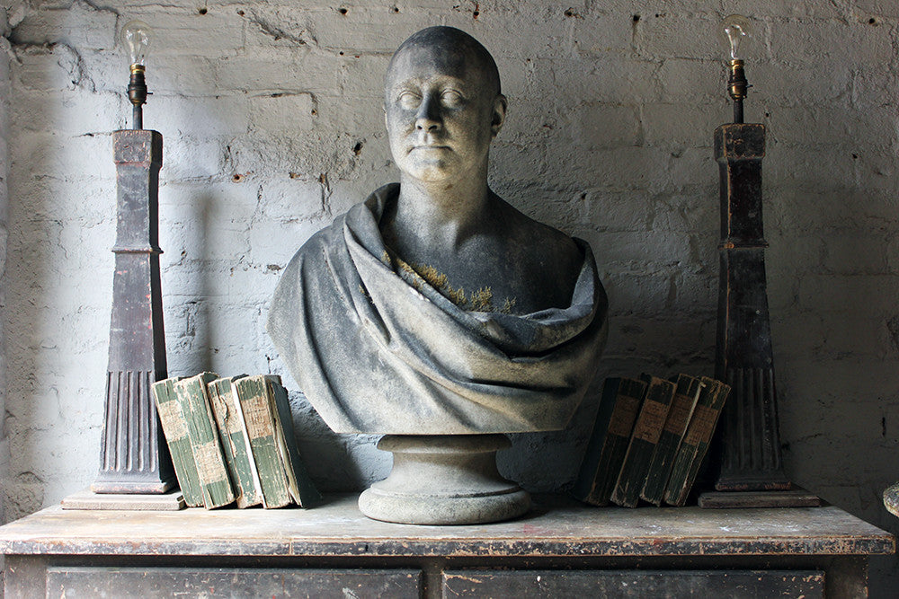 A Fine Quality c.1900 Marble Bust of a Gentleman Draped as a Roman Nobleman from Cairness House