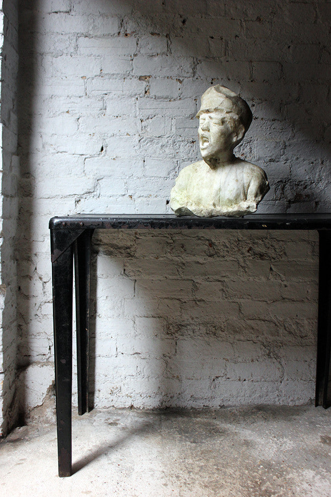 A Very Good 19thC French White Marble Bust of a Working Class Boy by Aimé-Jules Dalou c.1860-80