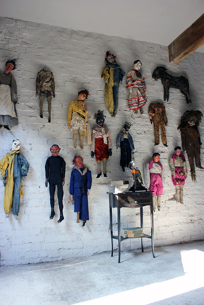 A Rare Group of Fifteen c.1880s Marionettes From a Travelling English Troupe
