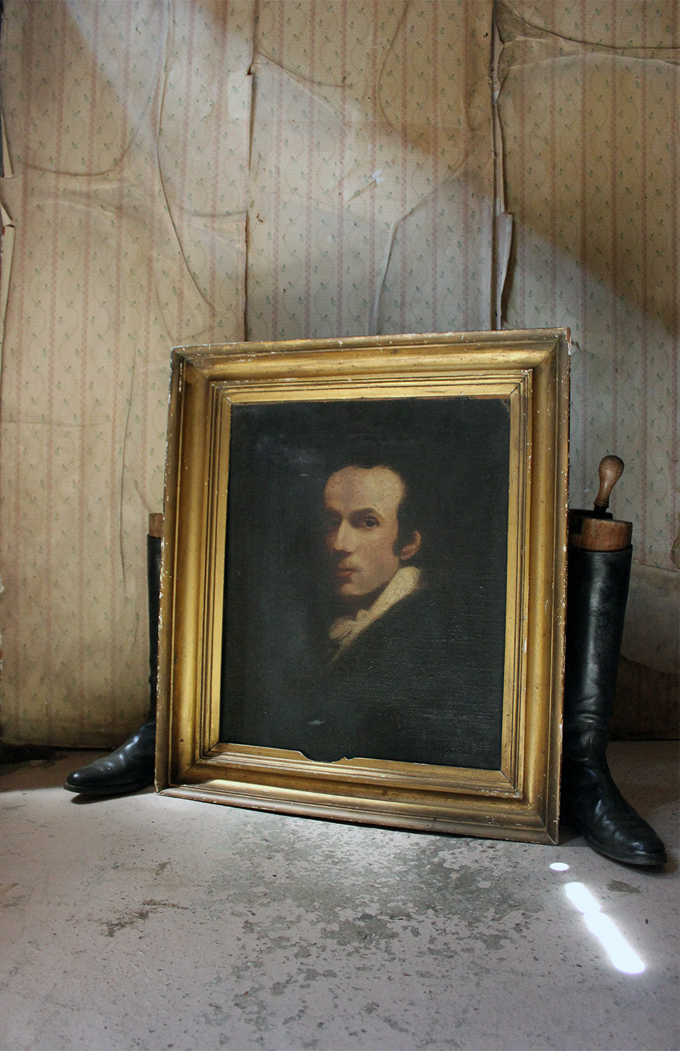 A 19thC English School Oil on Canvas Laid to Board Portrait of a Gentleman c.1870