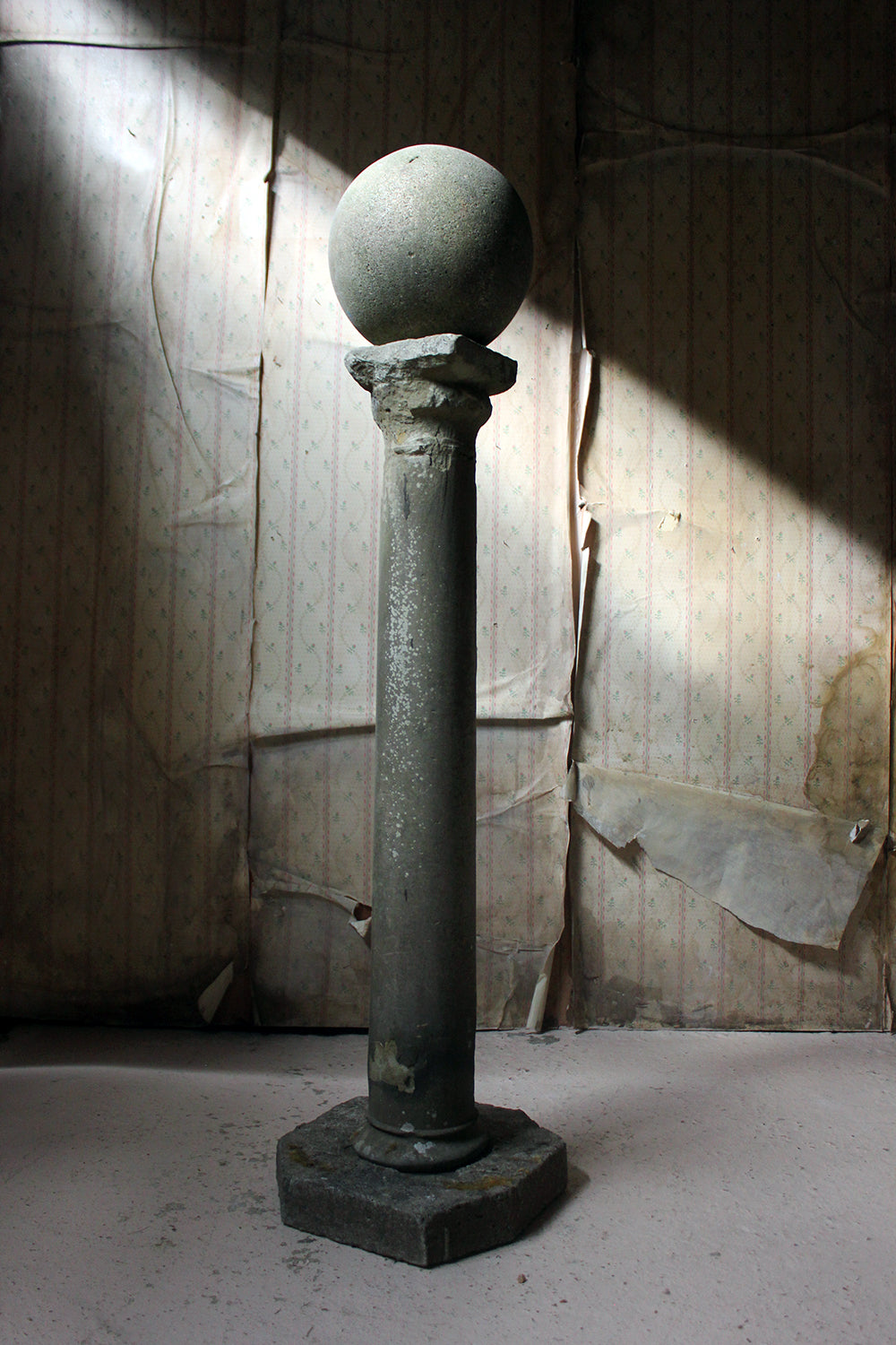 An Early Monastic Medieval Limestone Column; c.1400 & Later