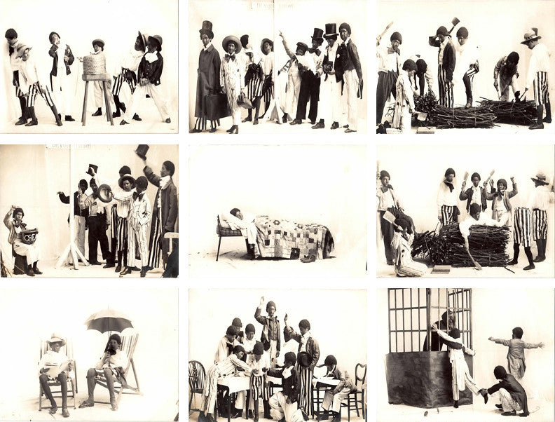 A Very Rare Set of Twenty Unused Blackface 'Minstrel' Postcards