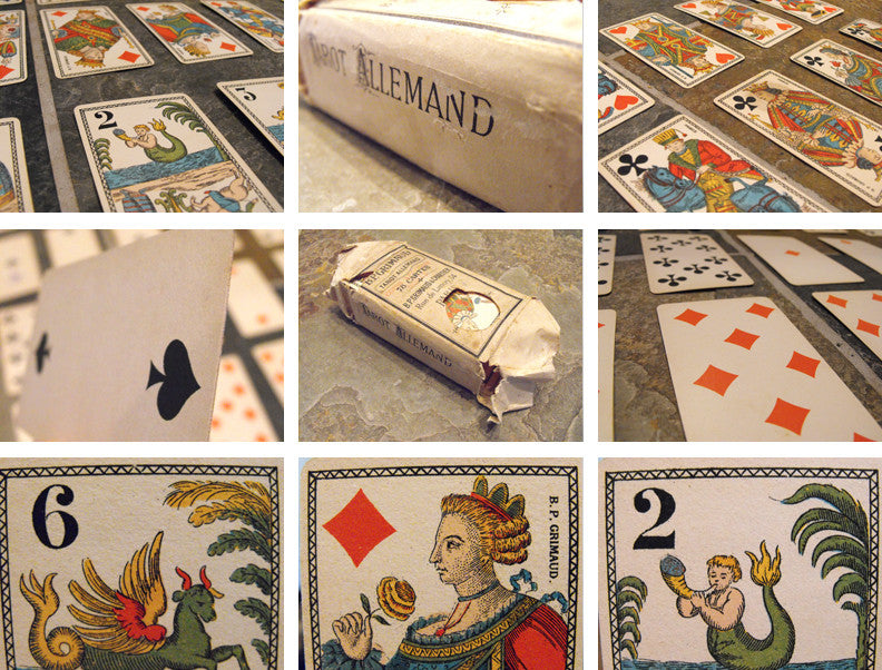 A Fine Set of Tarot Playing Cards Published by Baptiste Paul Grimaud, Paris; 'Tarot Allemand' à 2 têtes Chinois