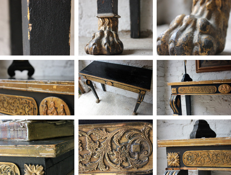 A Good Regency Period Gilt & Ebonised Hall Table