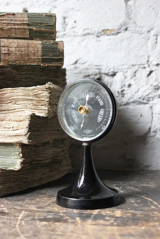 A Good Early 20thC Ebonised 'Mystery' Barometer by Short & Mason