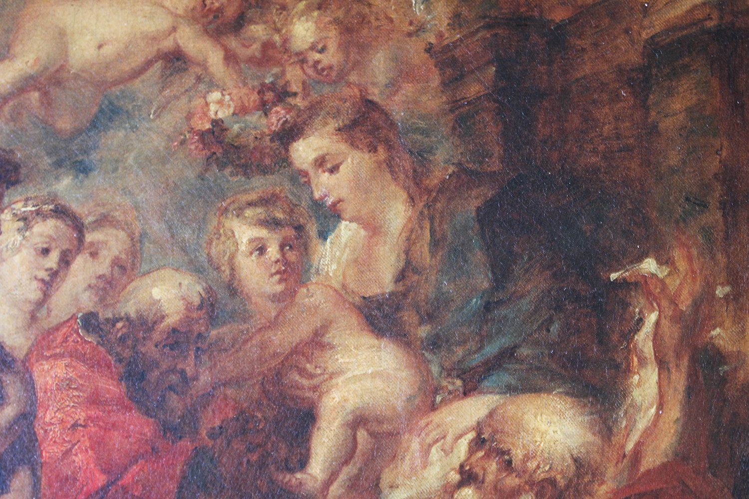 William Etty RA (1787 – 1849); The Virgin & Infant Saviour with Saints; After Rubens c.1843-46