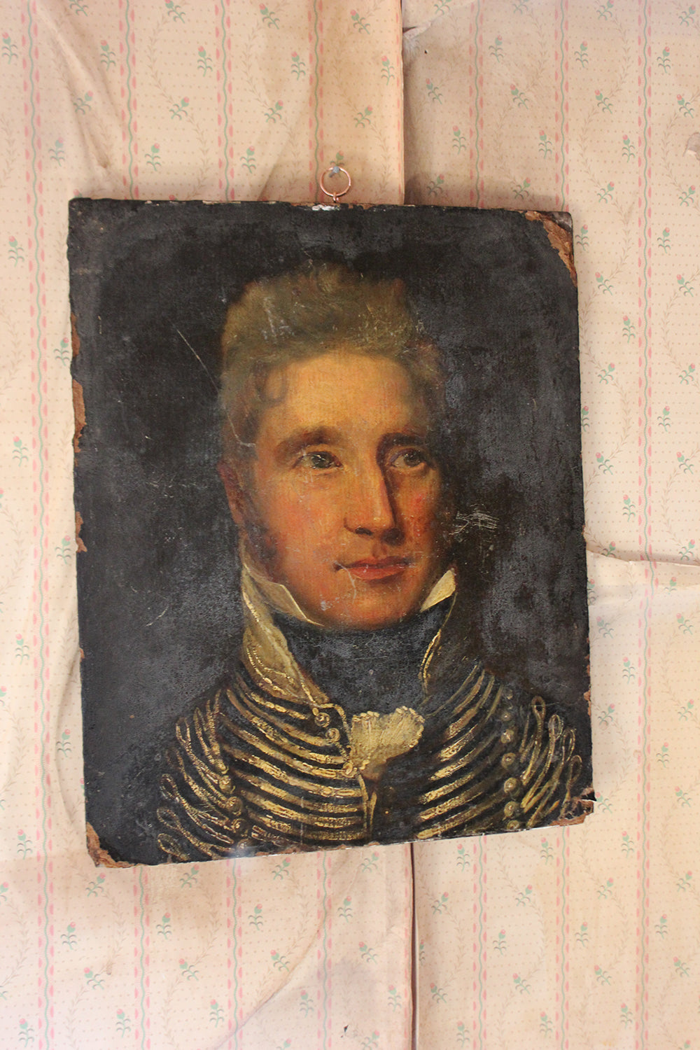 A Scarce Late 18thC Oil on Panel Portrait of a Hussar c.1790