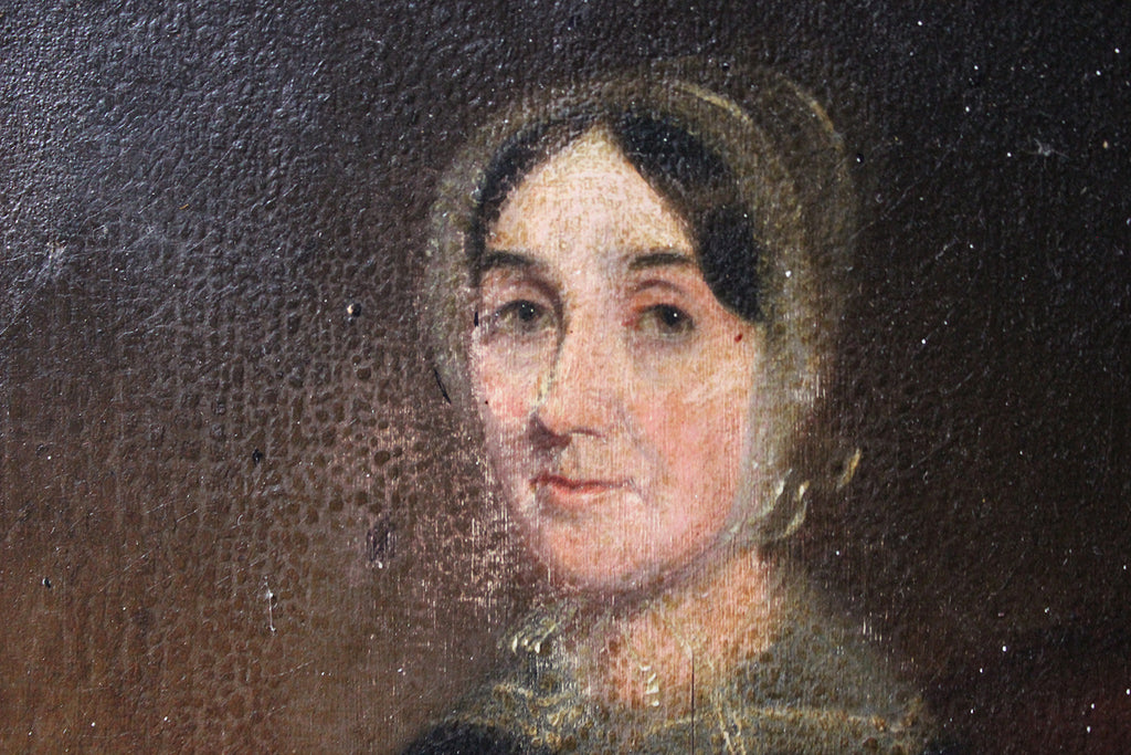 A Good Mid-19thC Oil on Canvas Portrait of a Lady