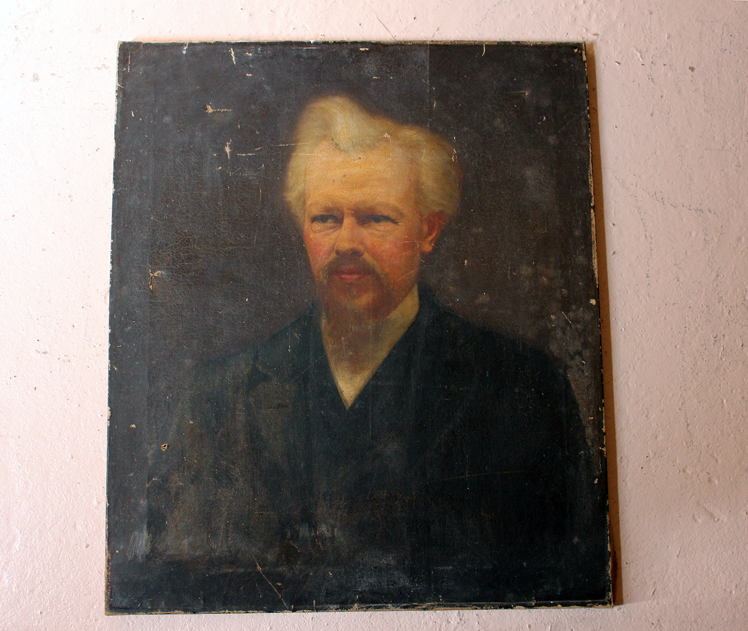 A c.1870 Oil on Canvas Portrait of the Minister Thomas Child (1839-1906)