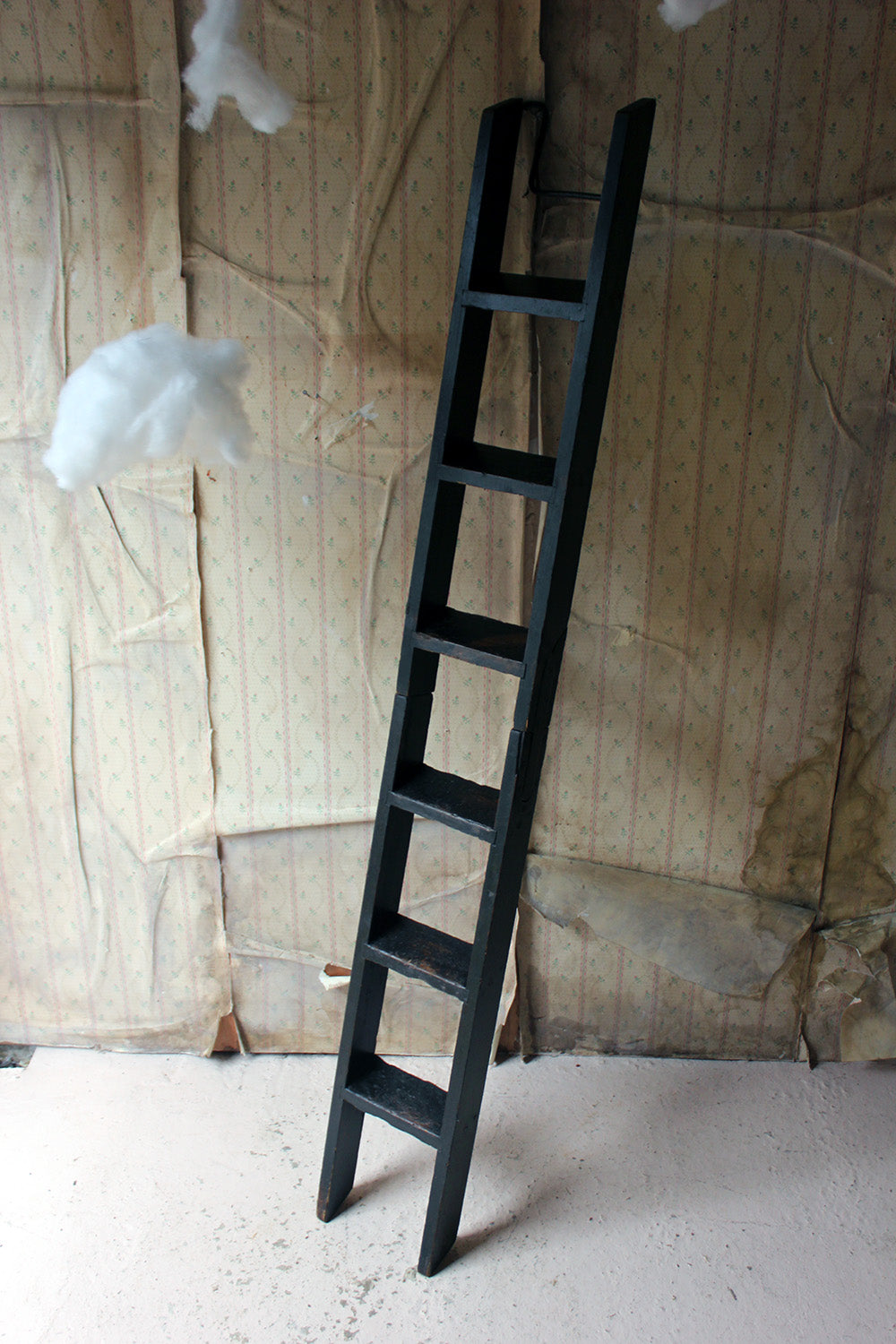 A Scarce Victorian Painted Six-Tread Coaching Ladder c.1870