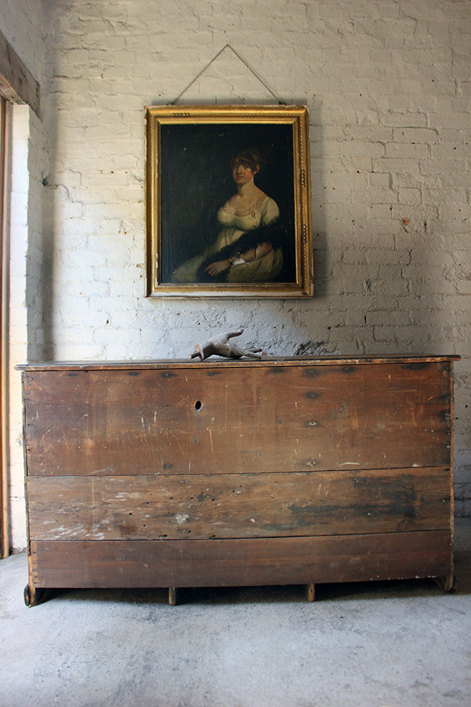 A Wonderful George III Period Painted Dresser Base c.1780-1790