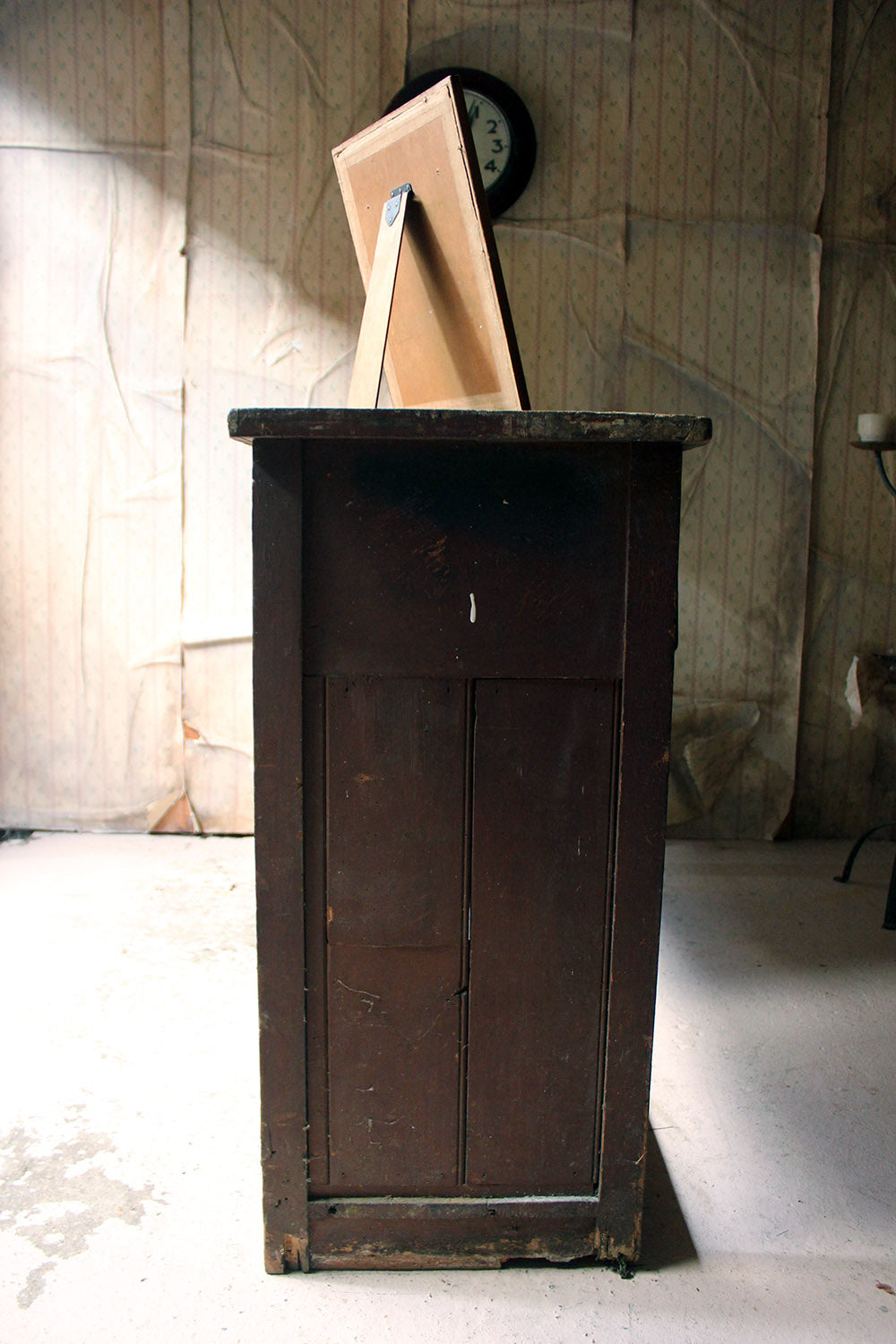 A Painted Pine Potboard Dresser Base c.1830-40