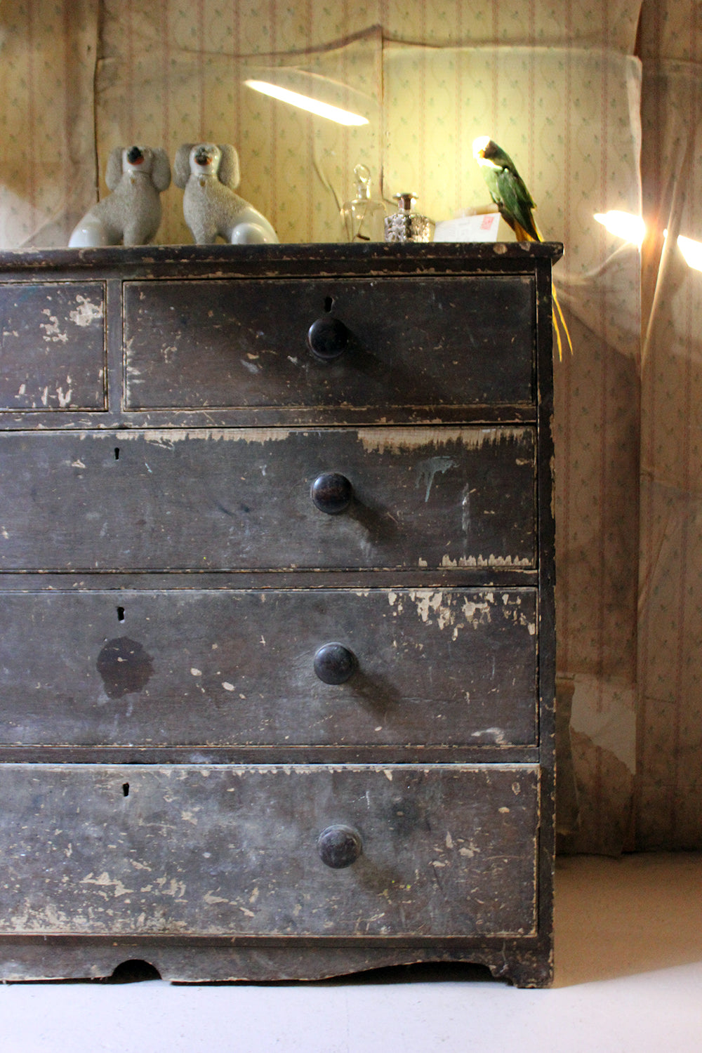 A Large Victorian Painted Pine Chest of Drawers c.1900