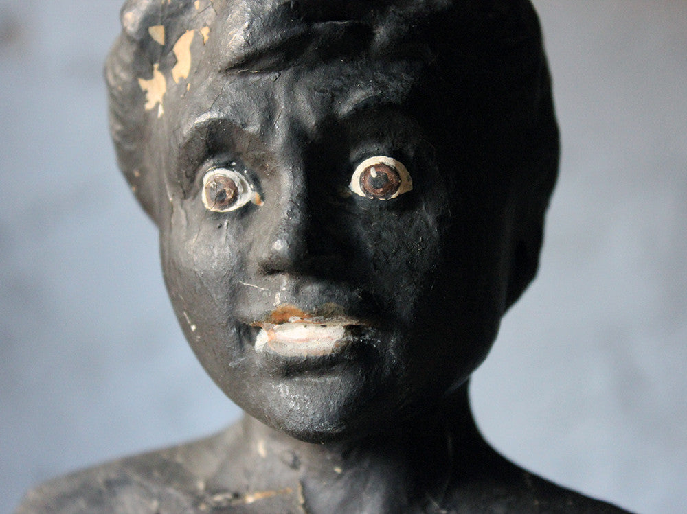 A Rare c.1900 Papier-Mâché Tobacconists' Indian 'Black Boy' Advertising Shop Window Display Figure