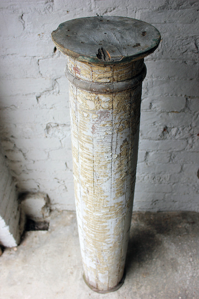 A Decorative Painted Pine Column c.1900