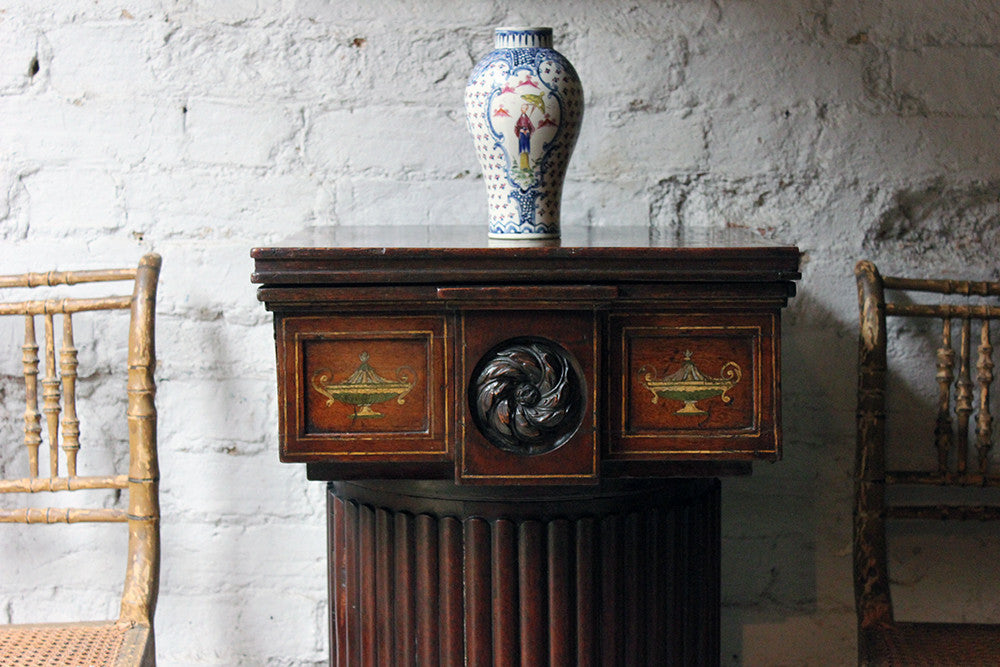 An Attractive George III Painted Mahogany Pedestal Cupboard c.1770-80