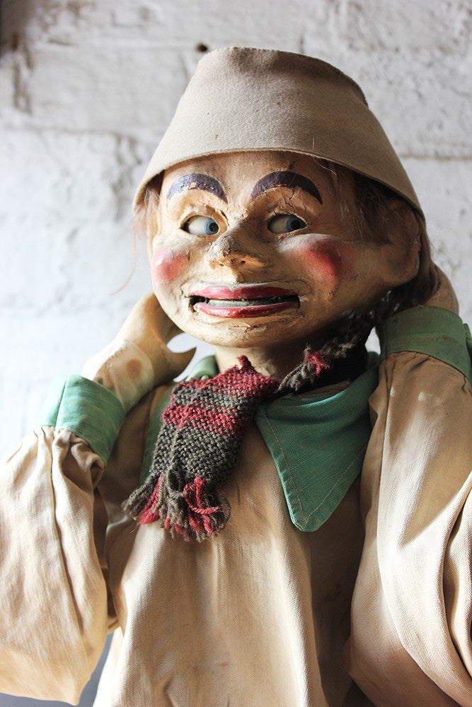A Rare & Rather Unusual c.1910 Ventriloquist's Dummy Possibly by Alfred LeMare