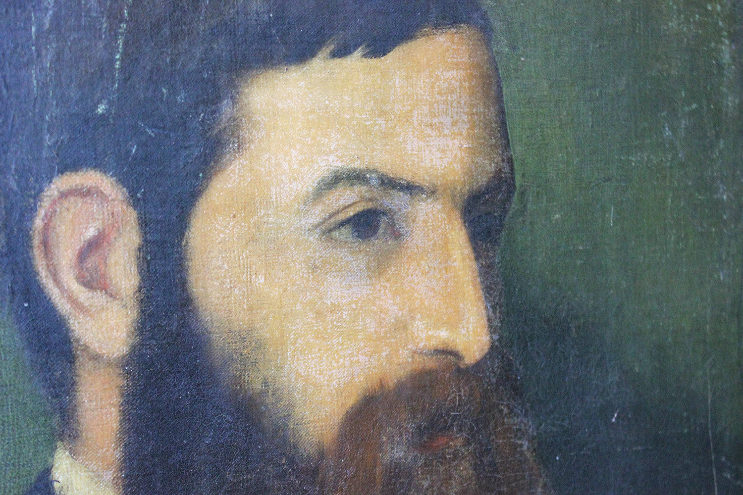 Circle of George Frederic Watts (1817-1904); An Oil on Canvas Portrait of a Bearded Gentleman c.1850-70