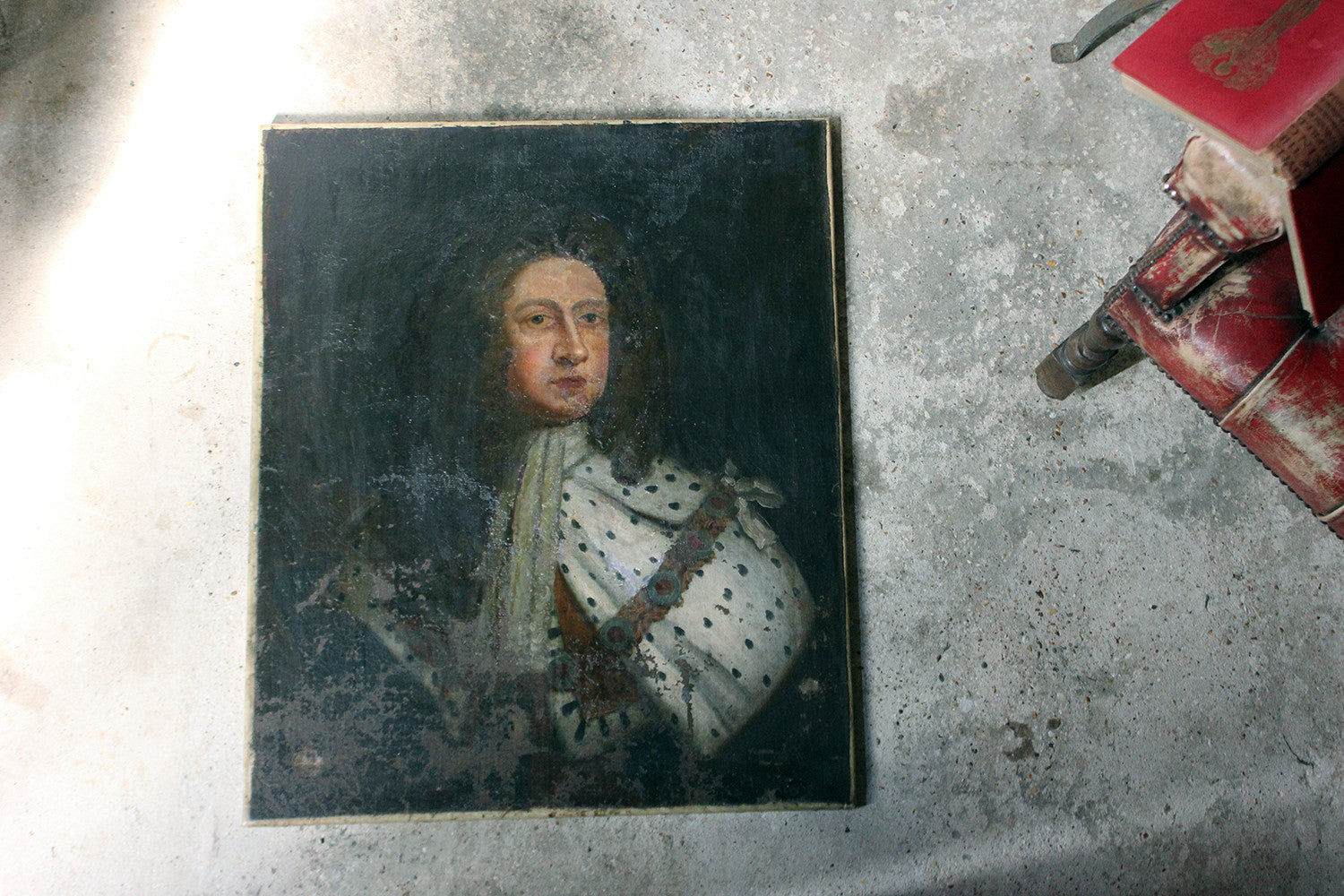 After Sir Godfrey Kneller; An Early 18thC Oil on Canvas Portrait of King George I c.1714