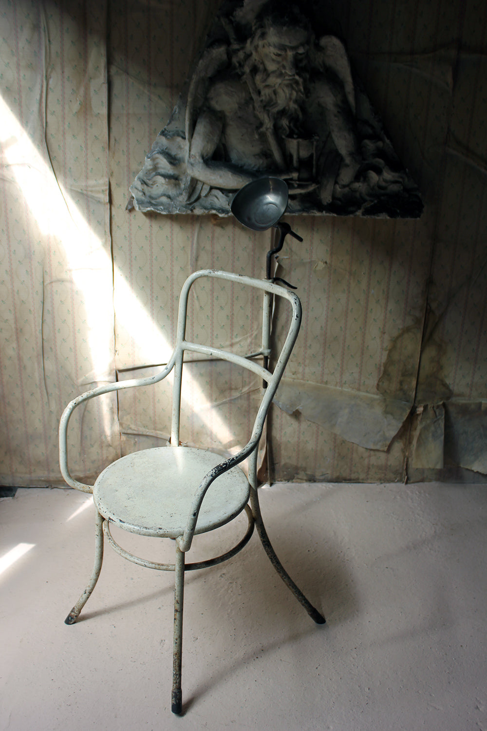 An Interesting French Tubular Metal Post-Mortem or Anthropometric Photography Armchair c.1935-45