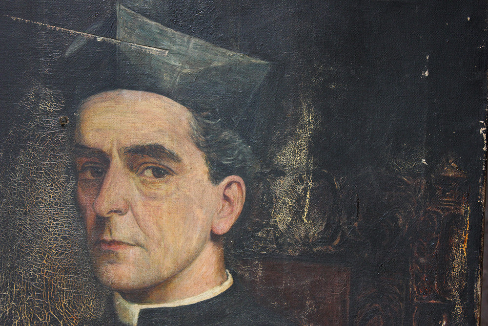A Good English School Portrait of an Italian Chief Cantor Priest by Arthur Edward Clabburn c.1900