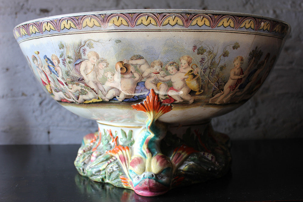 A Very Large Gildea & Walker Staffordshire Punch Bowl c.1885