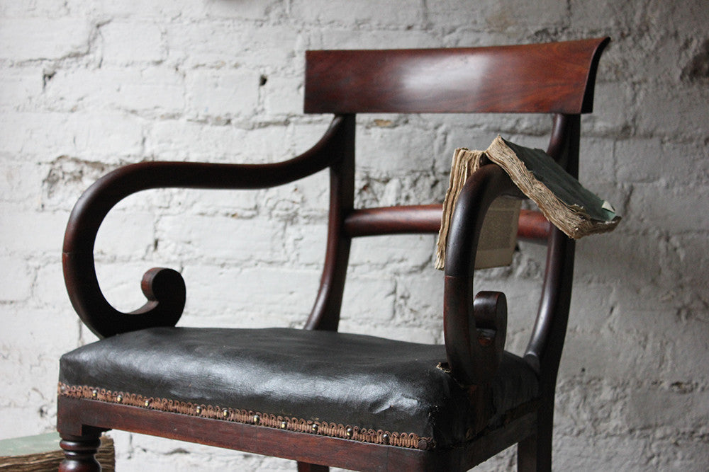 A Handsome Regency Period Mahogany Desk Chair c.1810