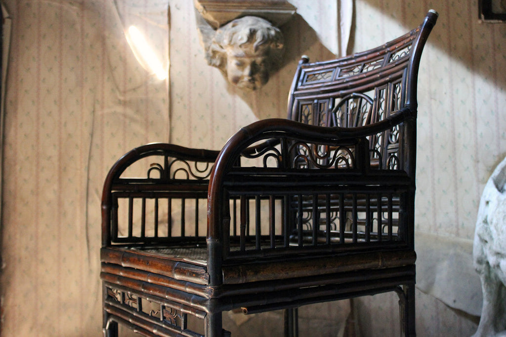 A Regency Period 'Brighton Pavilion' Bamboo Armchair c.1815-25