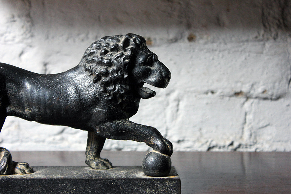 A Superb Regency Period Cast Iron Relief Model Door Porter in the Form of the Medici Lion c.1820-30