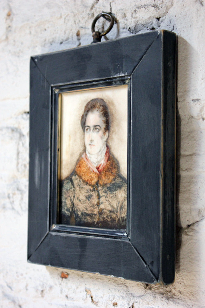 A Good Regency Period Watercolour Portrait Miniature on Ivory of a Gentleman Dated to 1820
