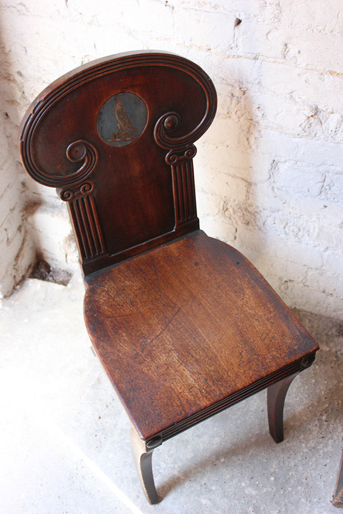 A Very Fine Quality Neo-Classical Regency Mahogany Hall Chair c.1810