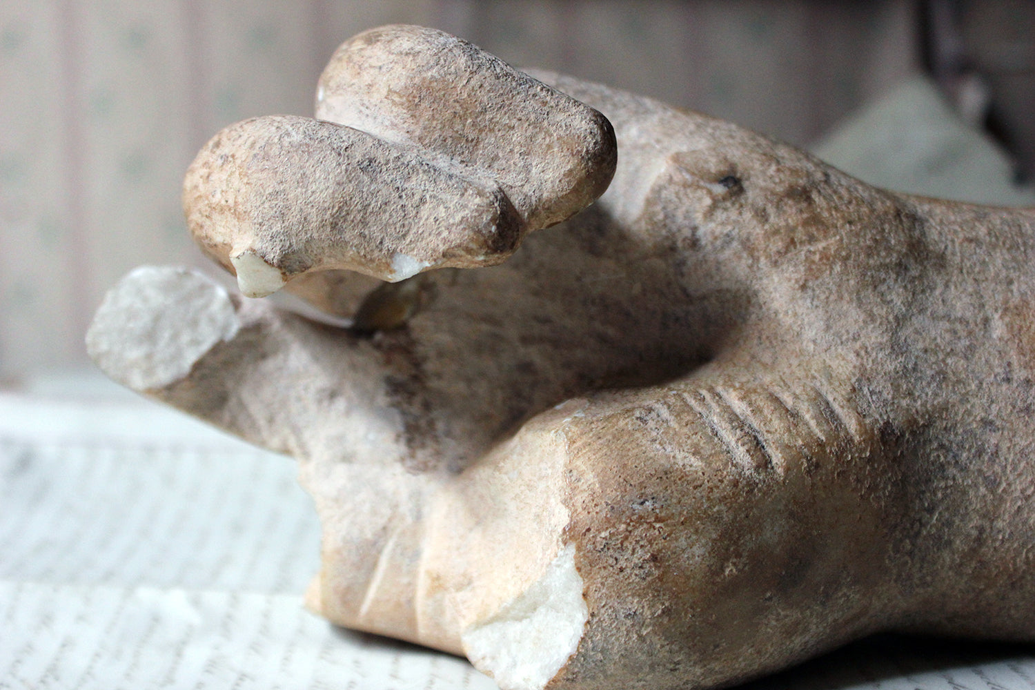 A Roman Period Carved Marble Fragment of a Left Hand; c.150-200 AD