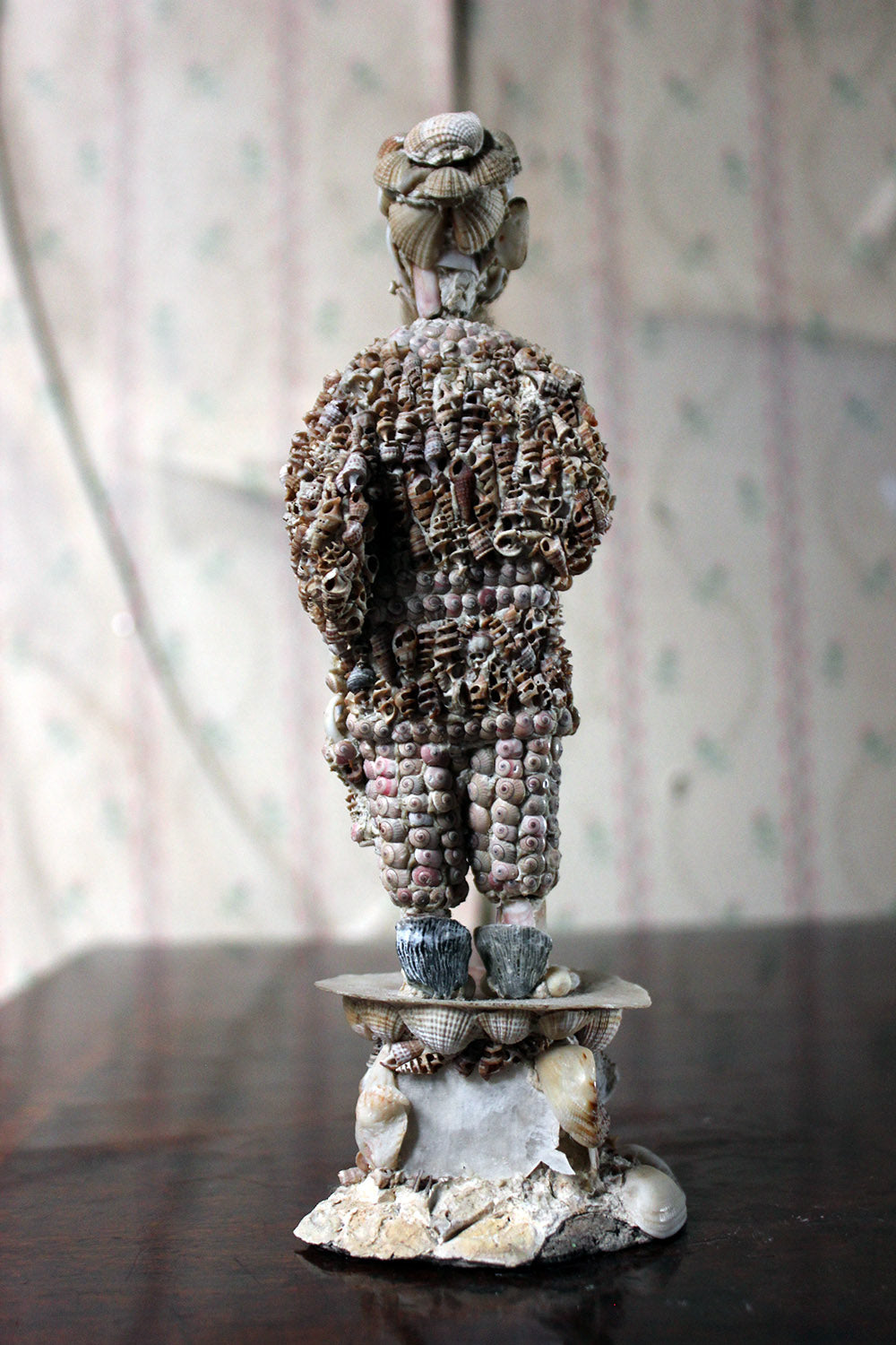 A Rare Early 19thC English Shell-Work Figure of a China Man in the Manner of Giuseppe Arcimboldo