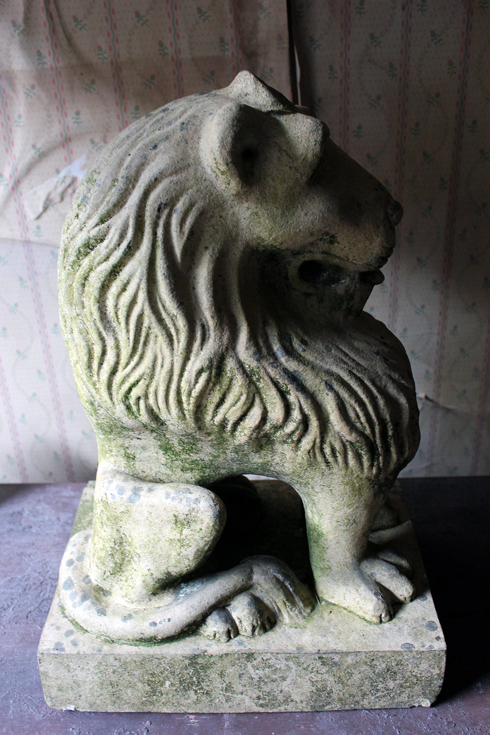 An Attractive & Highly Stylised Early 20thC Terracotta Seated Lion c.1910