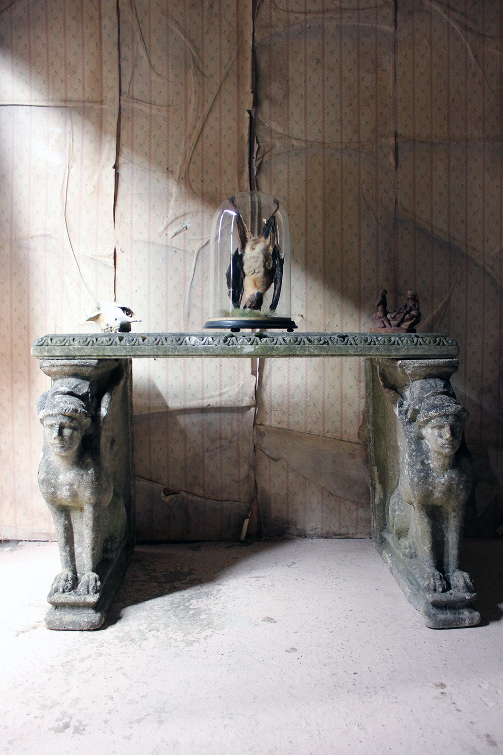 An Early 20thC Neoclassical Revival Cast Sphinx Stone Centre Table c.1920-35