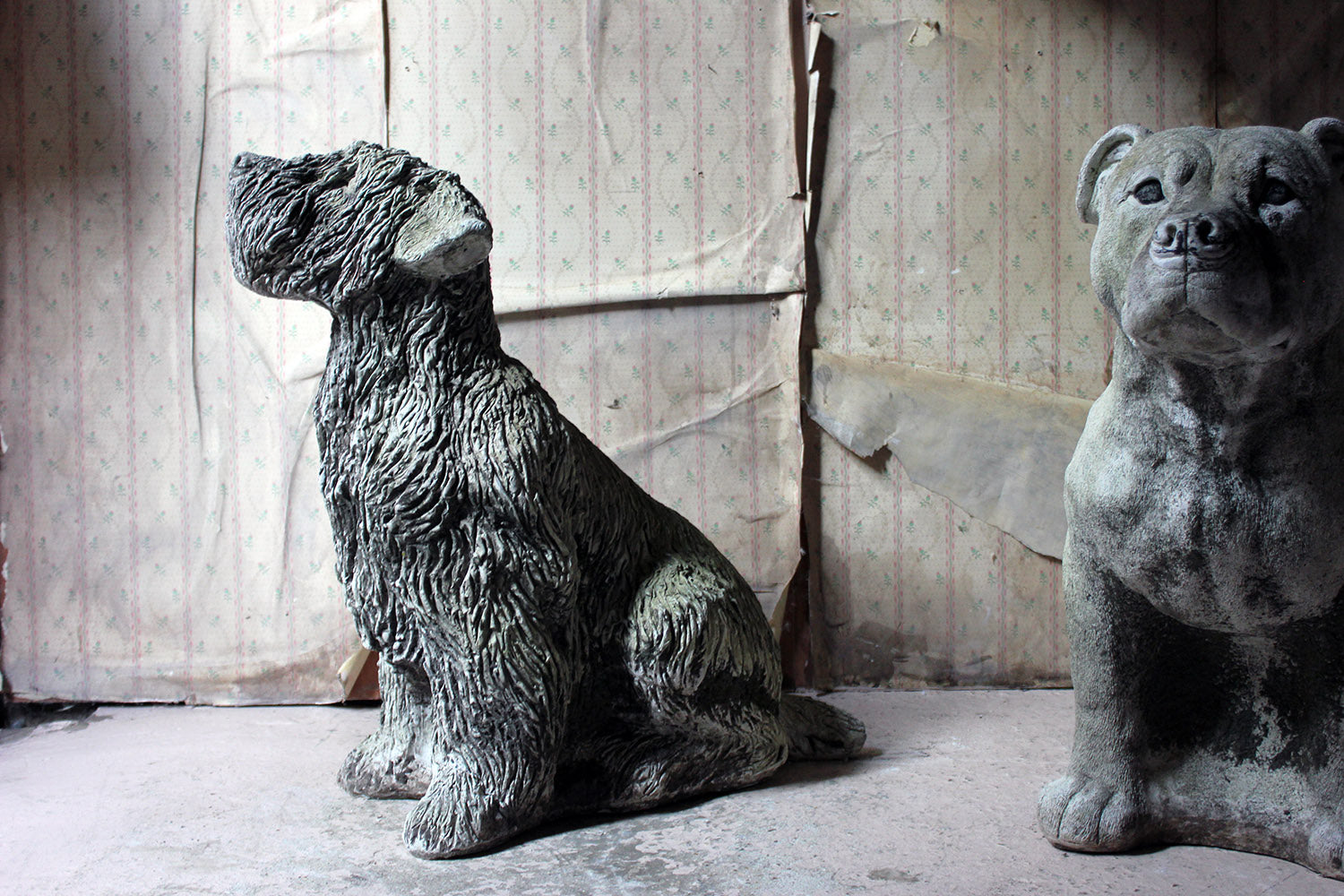 A Mid-20thC Cast Composition Stone Wheaten Terrier