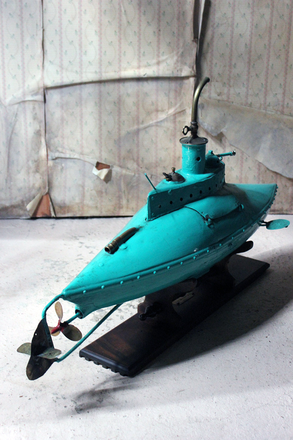 A Unique 2013 Scratch Built 'Seahorse' Experimental Petrol Submarine; by Tom Petrusson (b.1963)