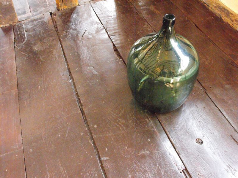 A Very Large Vintage Green Glass Bottle