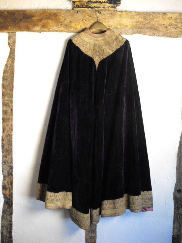 An Exceptional Victorian Embroidered Velvet Mantle Cloak