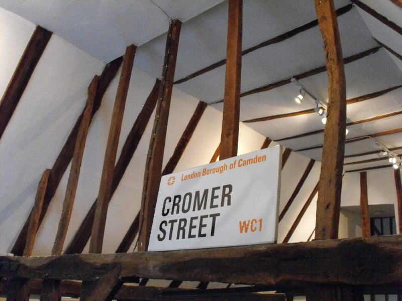 A 20thC Enamelled Street Sign for Cromer Street, in the London Borough of Camden, West Central 1