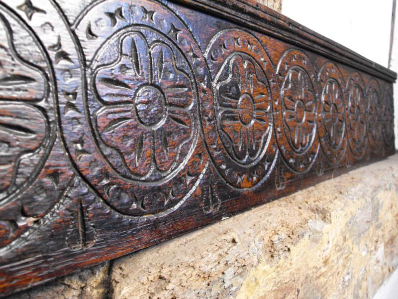 A Seventeenth Century Carved Oak Panel